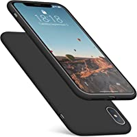 DTTO Case for iPhone Xs Max, [Romance Series] Silicone Case with Hybrid Protection for Apple iPhone Xs Max 6.5 Inch (2018 Released) - Black