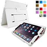 iPad Air Case, Snugg™ White Leather iPad Air Smart Case Cover [Lifetime Guarantee] Protective Flip Stand for Apple iPad Air 1 With Auto Wake & Sleep