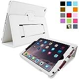 英国Snugg社製 Apple iPad Air 用 レザーケース - スタンド機能・生涯補償付き (ホワイト)