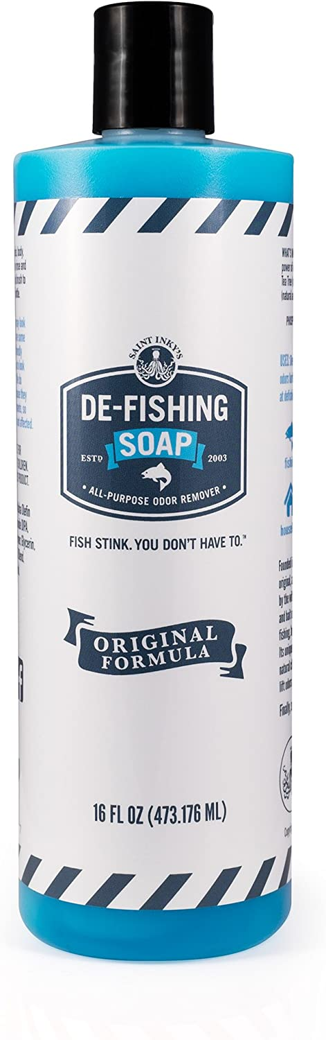De-Fishing Soap All Natural and Biodegradable Liquid SOAP for Odor Removal-Multipurpose Great for Fishing, Camping or Cooking : Sports & Outdoors