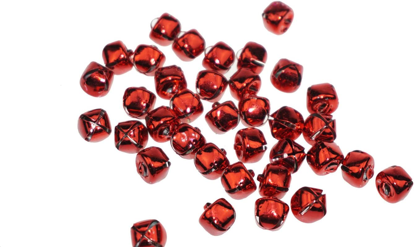 Pack of 2 50 Count 12mm Red Crafters Square Craft Jingle Bells