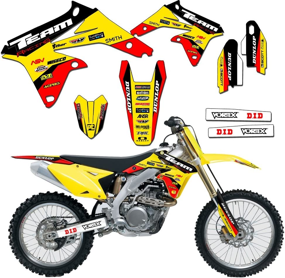 SCATTER Team Racing Graphics kit compatible with Suzuki 2000-2006 JR 50