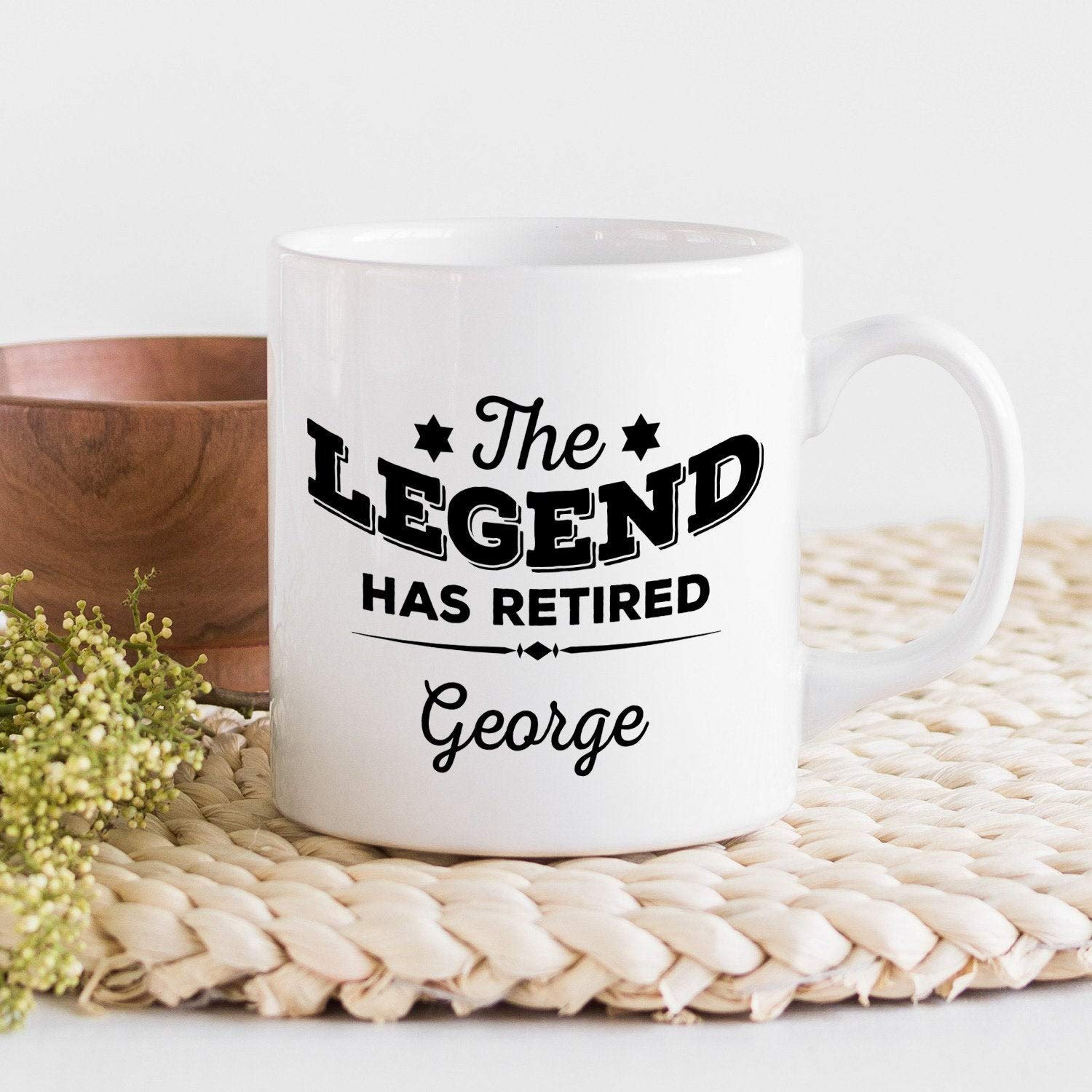 Personalised retirement gift//The legend has retired mug//Retirement gift for him or her//Retired mugs//Leaving job gift