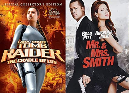 Amazon Com Angelina Jolie Action Pack Mr Mrs Smith Dvd