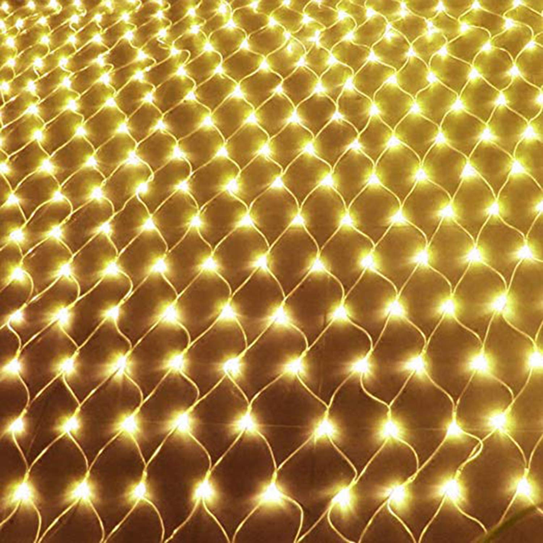 YAMAIDE LED Weihnachtsnetz Licht Outdoor Dekoratives Licht Gartendekoration Gartendekoration Gartendekoration Laterne Wasserdichte Indoor Outdoor Weihnachten Halloween Hochzeit Party Oder Stimmungslicht 6x4 Mt 2cd86f