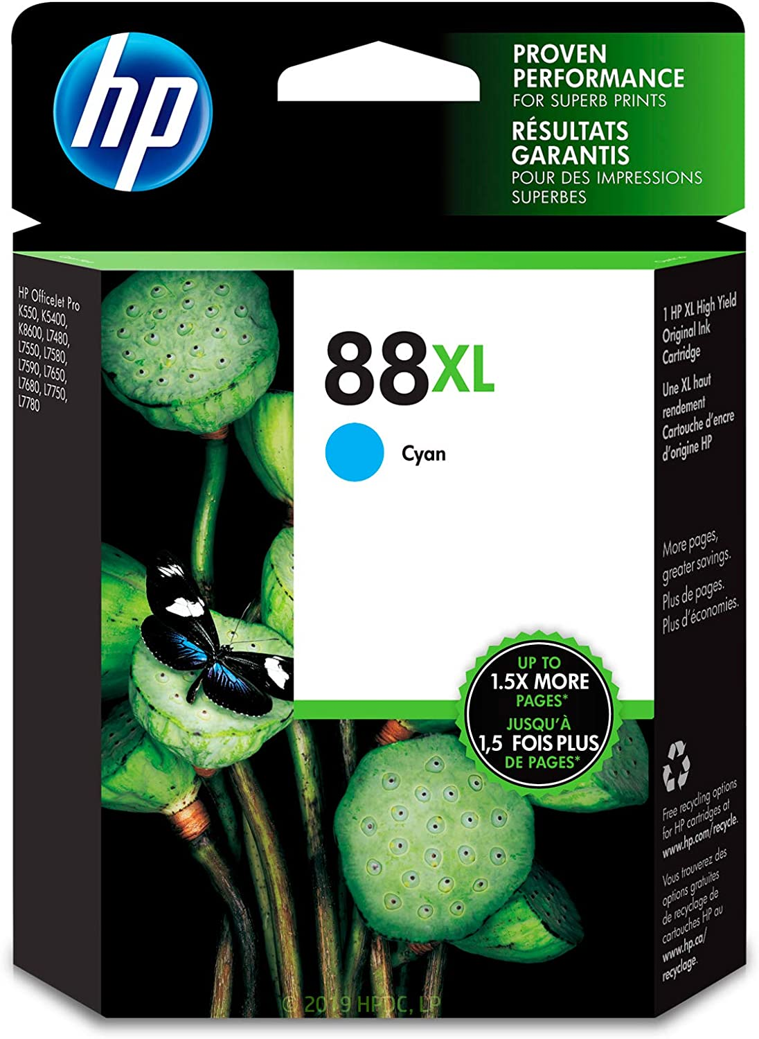 HP 88XL | Ink Cartridge | Cyan | C9391AN