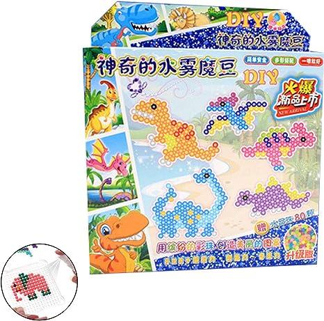Hilai 600pcs funde Granos Granos del Arte del Aerosol de Agua de Colores Conjunto Compatible con Aquabeads y Beados artesanías Juguetes para los Principiantes para niños (Dinosaurio): Amazon.es: Juguetes y juegos