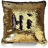 وسادة الترتر الذهبية والسوداء من موكوفو، غطاء لامع ذو وجهين من الترتر، غطاء وسادة سحري على شكل حورية بحر، غطاء وسادة…