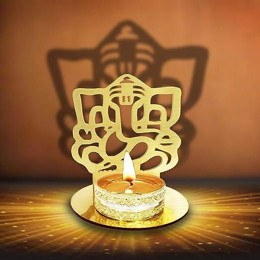 Deepawali Traditional Decorative Diya in Om Shape for Home//Office.Religious Tea Light Candle Holder Stand Diwali Decoration Diwali Gift Crafts/'man SHADOWDIYA003 Om Shape Diwali Shadow Diya