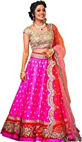lehenga choli for women(bridal pink_semi stichhed free size)