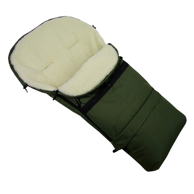 Cochecito 110/cm o 85/cm para beb/é olivo rawstyle Saco de invierno 3/en 1/de lana de cordero trineo y buggys Saco lana