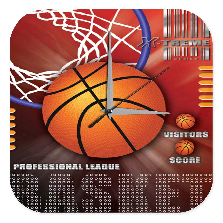 Reloj De Pared Retro Decoración Canasta de baloncesto profesional ...
