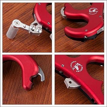 Aluminium Bogenschießen 4 Finger Griff Bremssattel Pfeil Freigabehilfen für