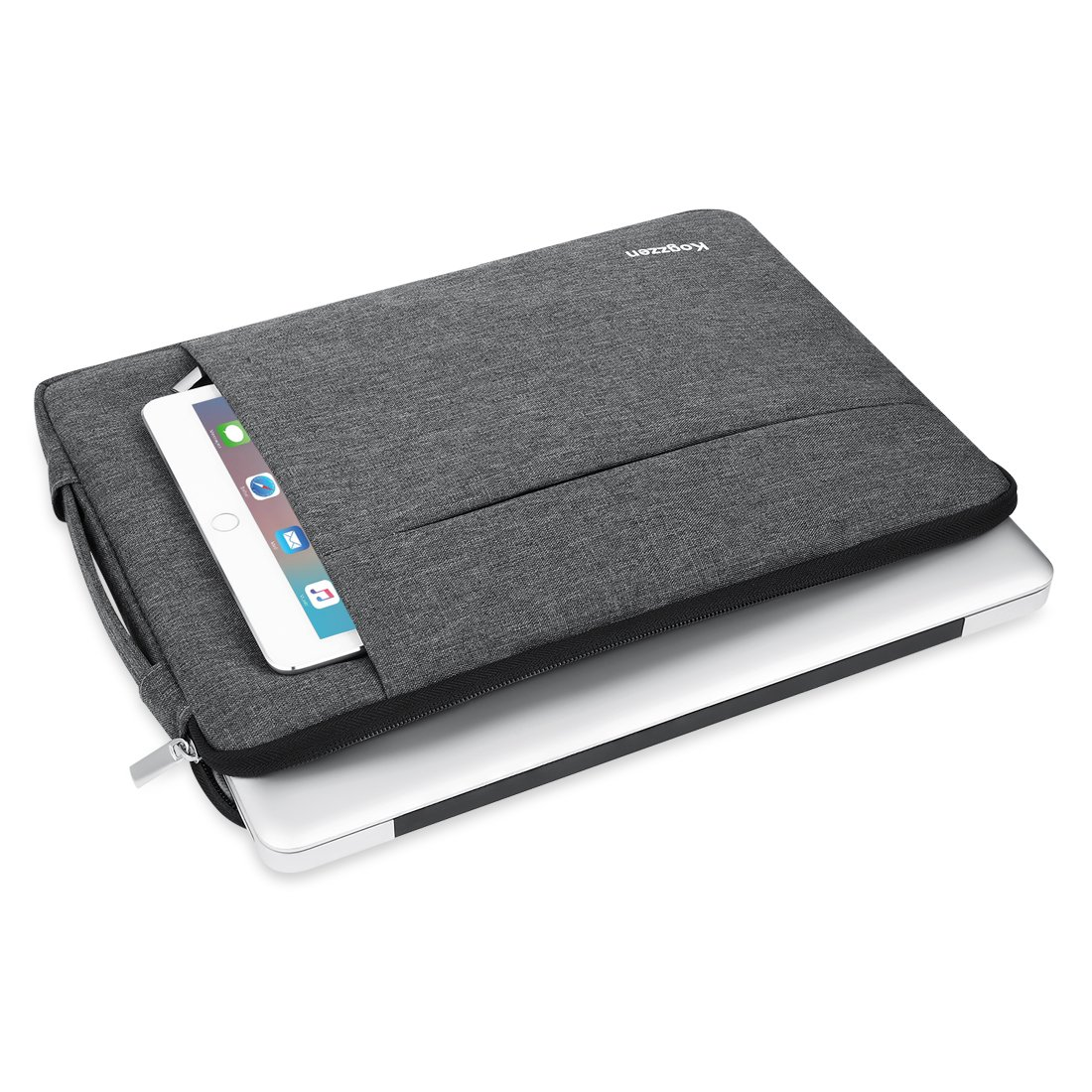 Kogzzen 13-13.5 Inch Laptop Sleeve Shockproof Lightweight Case Carrying Bag Compatible with MacBook Pro 13 inch/MacBook Air 13.3/ Dell XPS 13/ Surface Book 2 13.5/ Surface Laptop/iPad Pro 12.9 - Gray by Kogzzen (Image #2)
