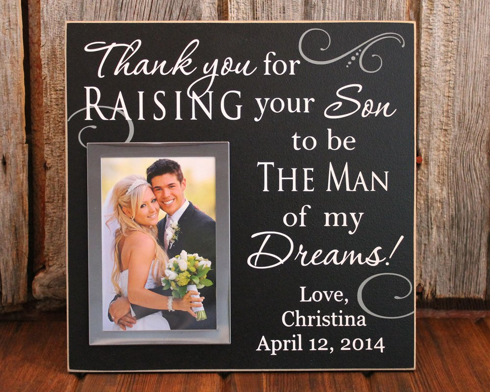 Amazon 12x12 thank you for raising the man of my dreams amazon 12x12 thank you for raising the man of my dreams personalized picture frame wedding gift for grooms parents personalized wedding gift jeuxipadfo Choice Image