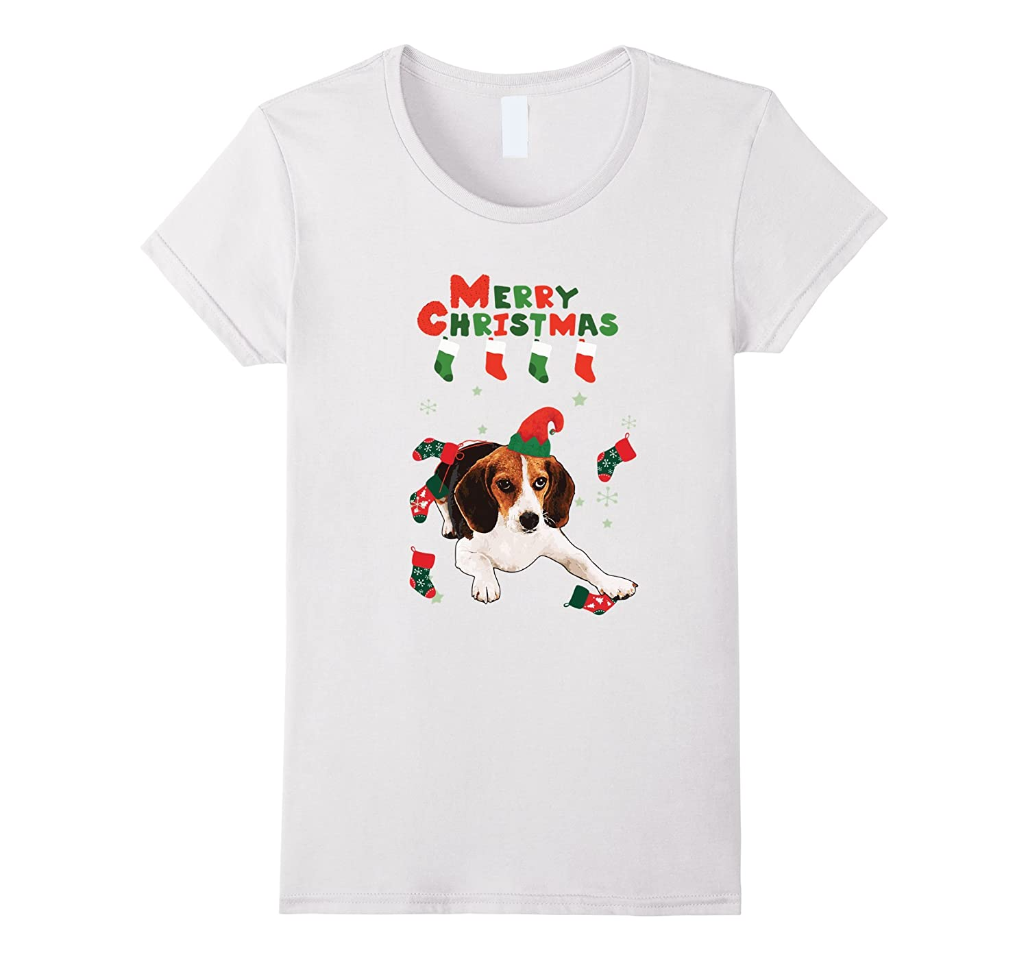 Funny Harrier Merry Christmas Gift Shirt for Harrier lover