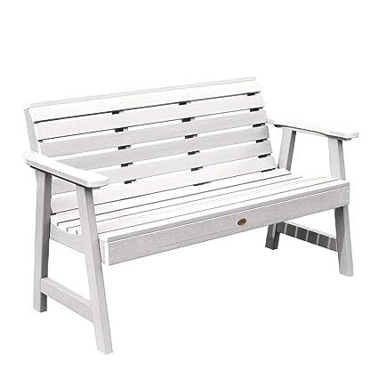 Strange Highwood Ad Benw3 Whe Weatherly Garden Bench 5 Feet White Ncnpc Chair Design For Home Ncnpcorg