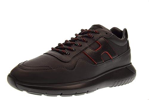 Hogan Scarpe Uomo Sneakers Basse HXM3710AM20JFX691M Interactive 3 MOD.all.  Taglia 9(43) Nero  Amazon.it  Scarpe e borse 3b00a283045