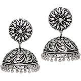 Jaipur Mart Jhumki Earrings for Women (Silver)(GSE274SLV)