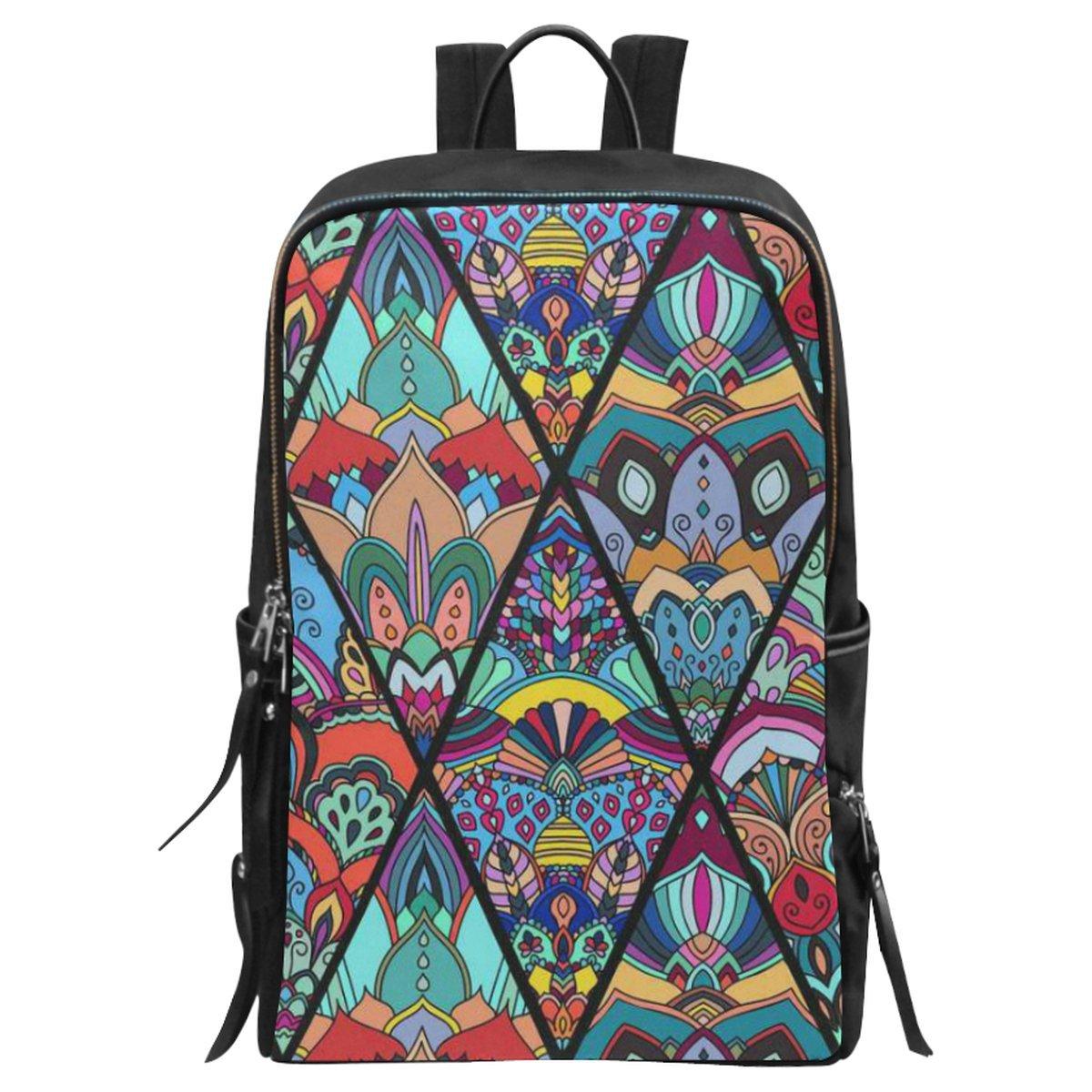 740b17442113 chic InterestPrint Boho Flower Mandala School Casual Travel Backpack School  Bag Travel Daypack