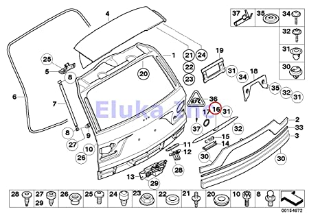 Amazon Com Bmw Genuine Trunk Lid Hatch Grip With Key Button X3 2 5i