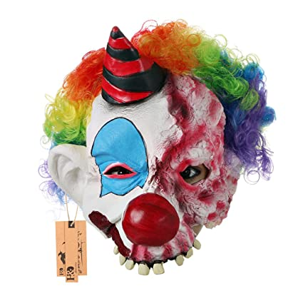 scary clown mask halloween party costume decorations creepy latex mask for adults