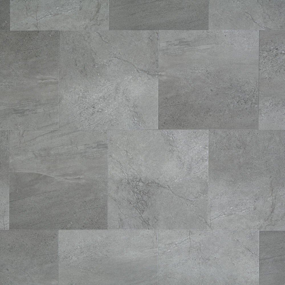 Mannington Hardware AT404 Adura Glue Down Collection Meridian Luxury Vinyl Tile Flooring, Steel