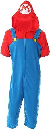 Nintendo Men's Super Mario Cropped Leg One Piece Pajama