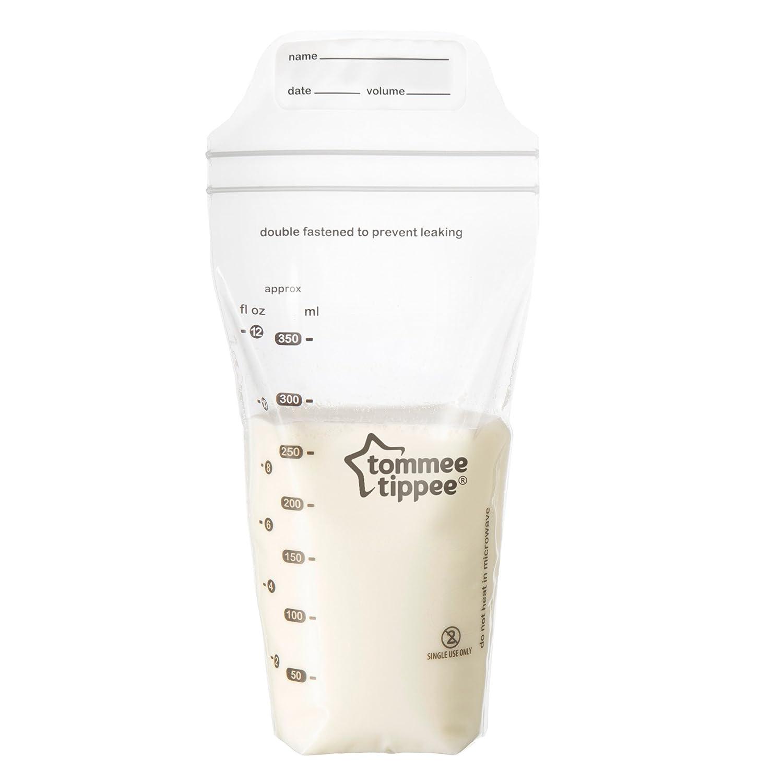 Tommee Tippee Breast Milk Storage Bags, Clear, 36-Pack 522680
