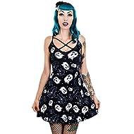 cd9d27bec04 Too Fast Halloween Vibes Bats   Ghosts Print Gwen Skater Dress Parent