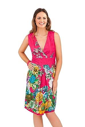 9ee044bdb542 Lora Dora Womens Floral Knee Length Summer Dress: Amazon.co.uk: Clothing