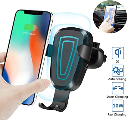 Gravity Wireless Car Charger Fast Charging 10W Cel Phone Holder Mount