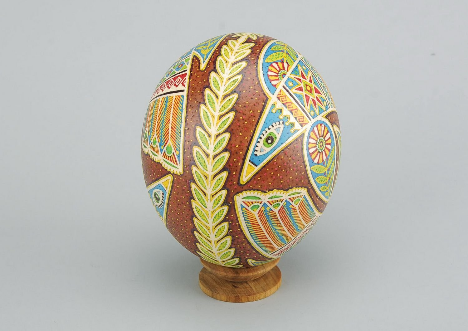 Painted Handmade Easter Egg ''Dance of Love'' Holiday Decoration by MadeHeart   Buy handmade goods (Image #5)