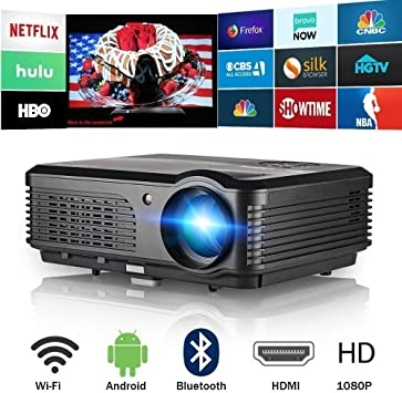 Proyector de video HD de 1080P, CAIWEI 4200 lúmenes WiFi ...