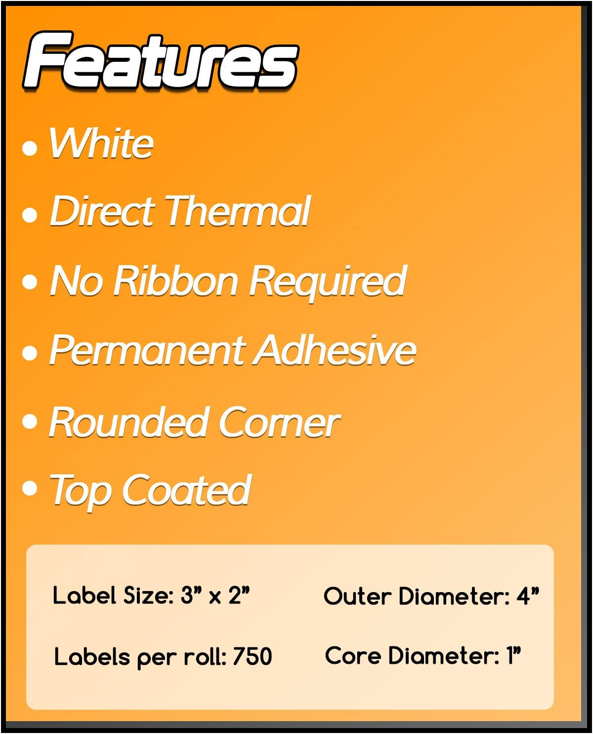 1 Inch Core 2 x 1 Zebra Compatible Direct Thermal Labels 4 Packs for Zebra Desktop Printer GC420d GC420t GK420d GK420t GX420d GX420t GX430t LP2824 LP2824Plus LP2422 TLP2824 TLP2824Plus LP2844 LP2442 TLP2844 ZP450 ZD500 ZD500R ZP500 ZP505
