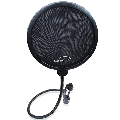 Auphonix Microphone Pop Filter (MPF-1) 6-inch with Double Mesh Filter Screen