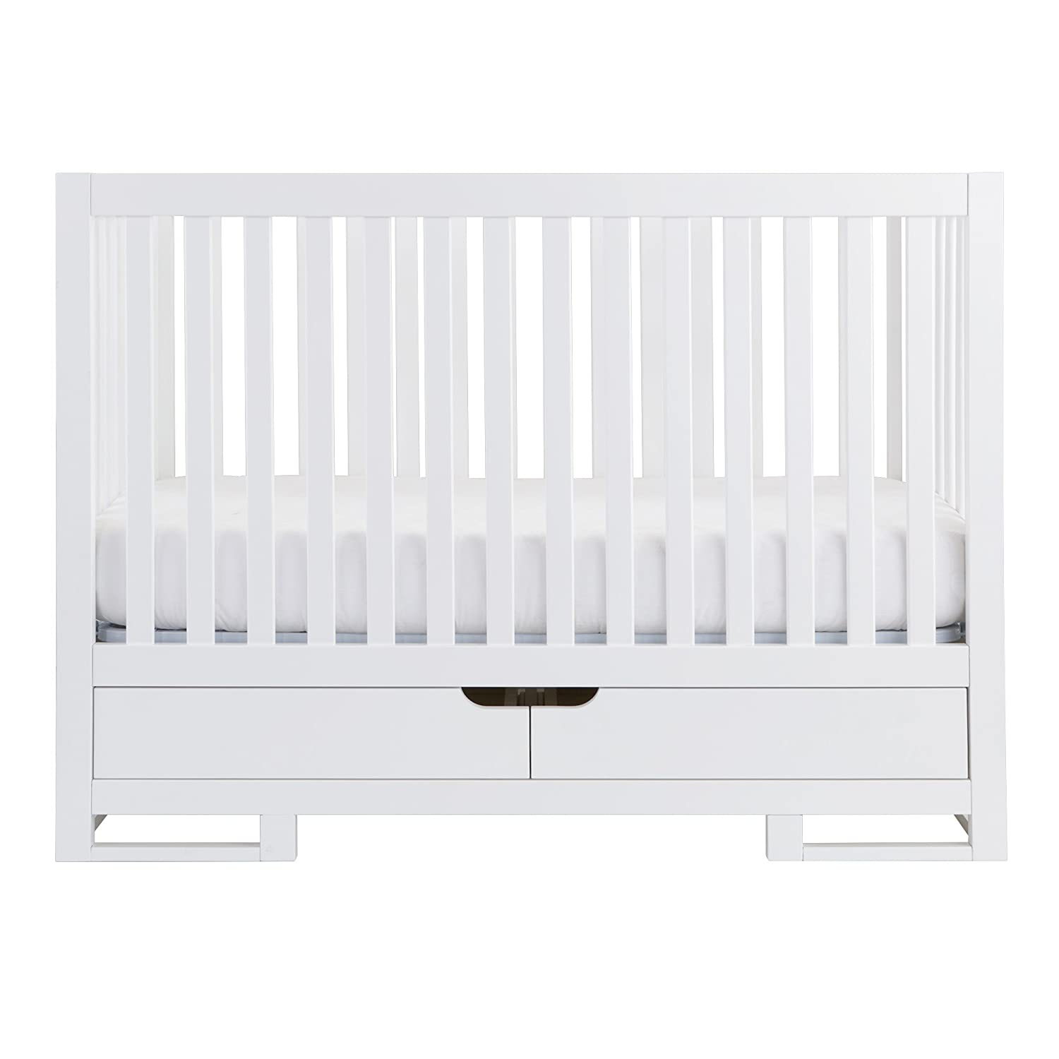 Pure White Karla DuBois Baby Oslo Convertible Crib with Drawer