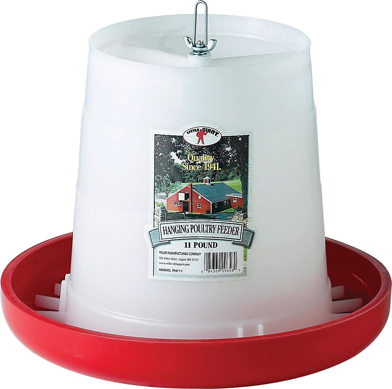 Little Giant Farm & Ag PHF11 11 Lbs Plastic Hanging Poultry Feeder