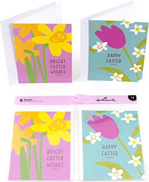 Hallmark Easter Cards 6 Pack With Envelopes