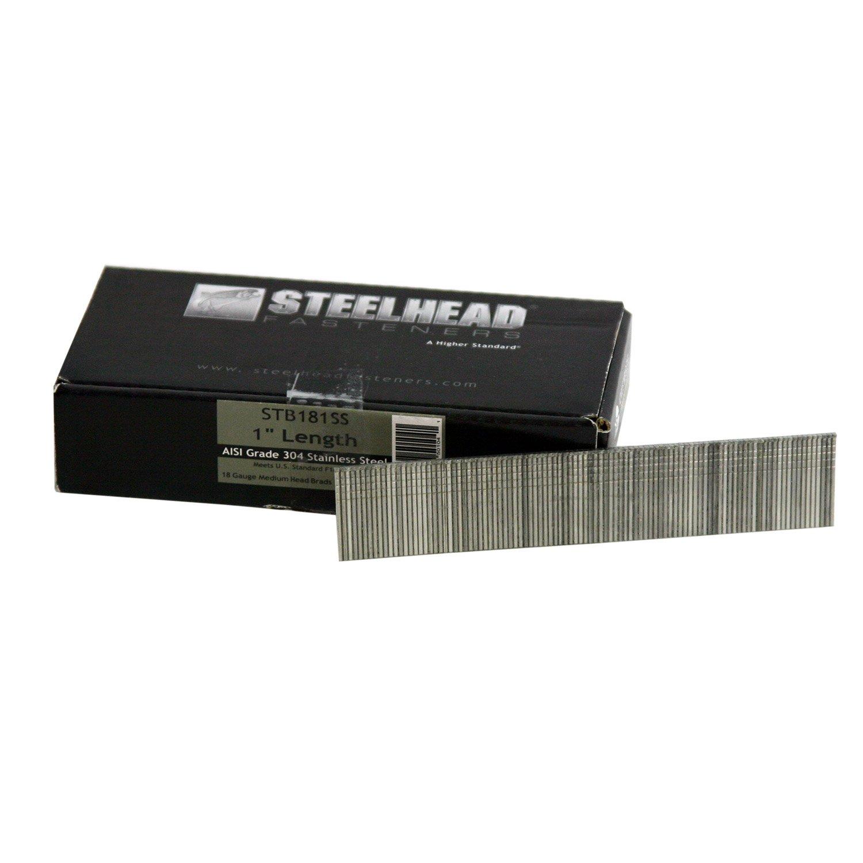 Steelhead STB181SS Stainless Steel Nail Brad 18ga 1'' 5000 count