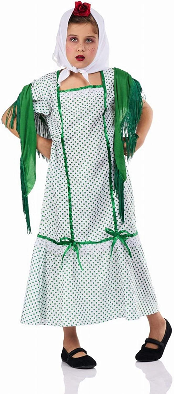 Disfraz de Chulapa Madrileña Verde para niña: Amazon.es: Juguetes ...