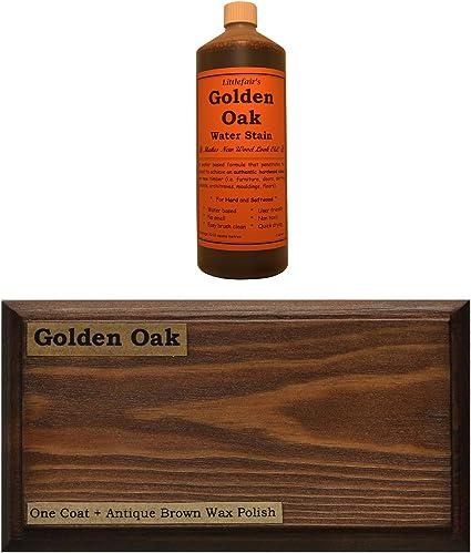 Tinte para madera a base de agua de Littlefairs, respetuoso con el medio ambiente, roble dorado, 250 ml