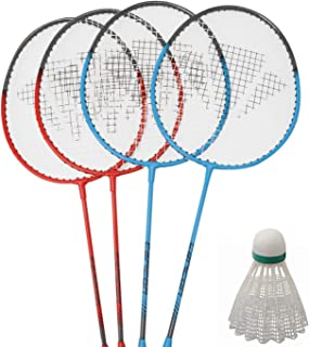Carlton Set de Badminton 4Rouge/Bleu 4x Raquette 3Volants Raquet Lot