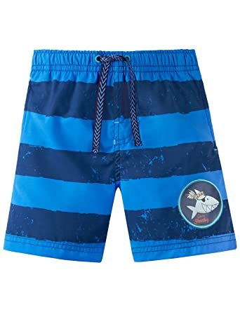 832d6e36af Schiesser Boy's Capt´n Sharky Swimshorts Swim Shorts, Blue (Blau 800),