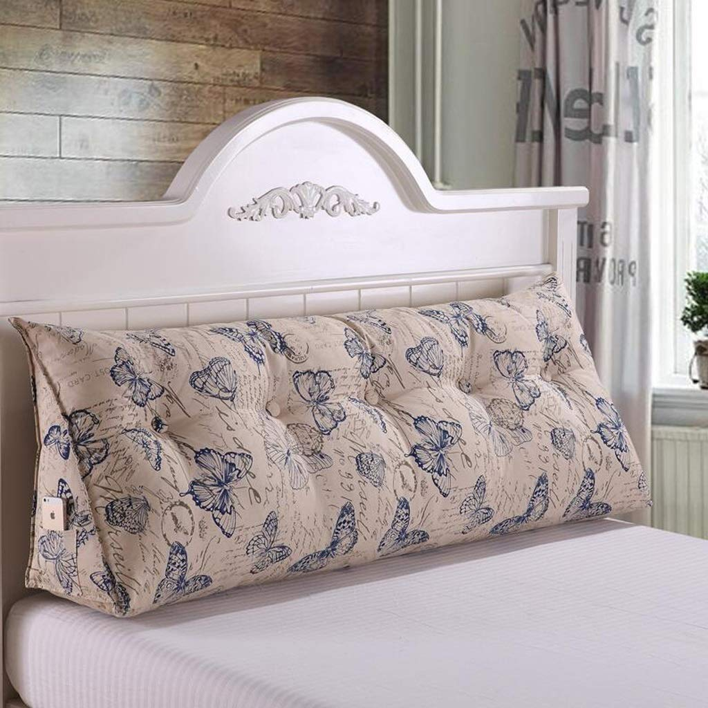QYSZYG Bedside Large Cushion Cotton Pillow Bed Soft Bag Sofa Large Back Bed Double Long Pillow Bedside Large backrest (Color : C, Size : 150 * 50 * 23cm)