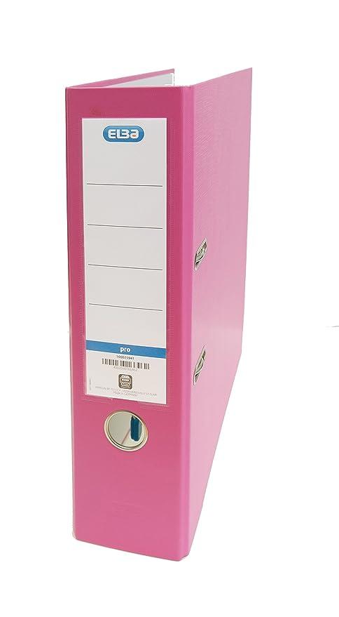 Elba Rado Top - Archivador palanca forrado en polipropileno, A4, color rosa