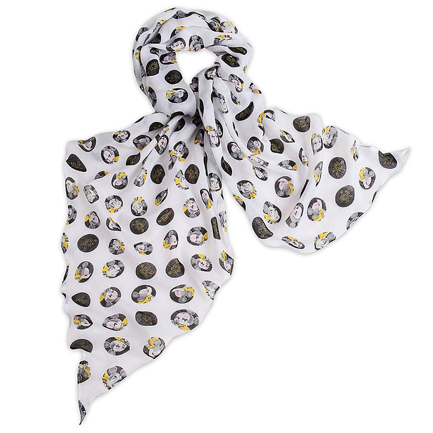 Disney Minnie Mouse Scarf - Signature Collection White 427502323619
