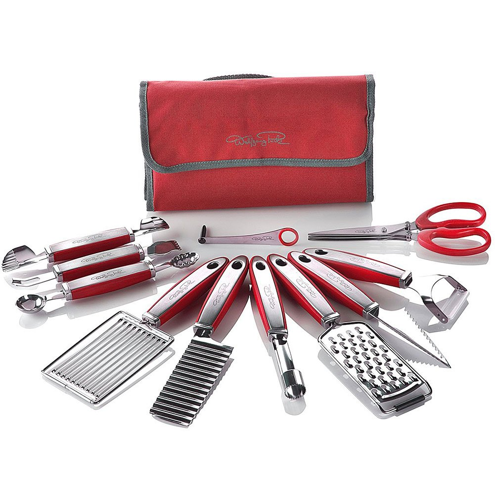 Wolfgang Puck 12 pc Garnish Essentials Set with Storage Case (Red) by Wolfgang Puck
