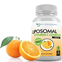 Liposomal Vitamin C 1400mg Per Serving - 180 Veggie Capsules High Absorption Ascorbic...