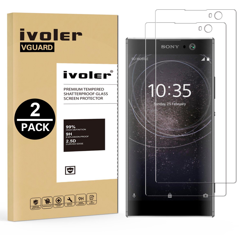 iVoler [2 Unidades] Protector de Pantalla para Sony Xperia XA2, Cristal Vidrio Templado Premium: Amazon.es: Electrónica